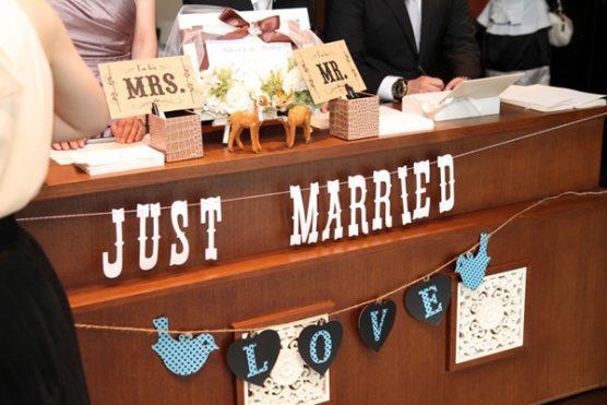 結婚式受付