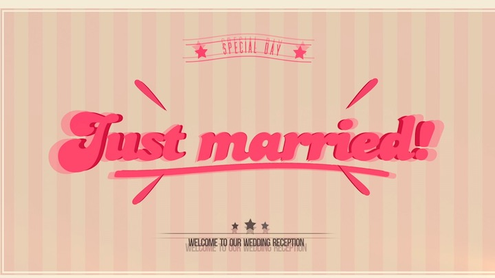 【Just Married】オープニングムービー