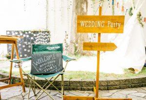 おしゃれな結婚式はエントランスの印象が大事!ウエルカムスペースを可愛く手作り!